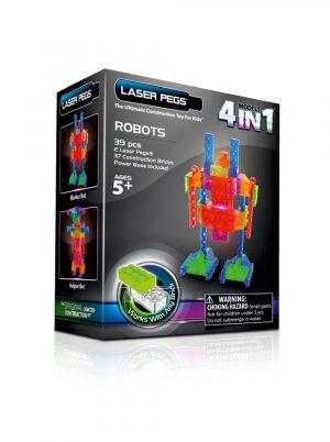 Набор Laser Pegs 4 в 1 Роботы MPS 200B
