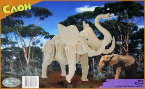 Конструктор деревянный Слон М016