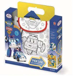 Сумка рюкзак Робокар для раскрашивания Robocar 02230