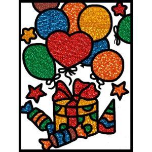 Набор для творчества Насыпь наклей Подарок 2388