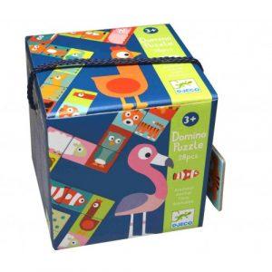 DJECO Детская настольная игра Домино Животные 08165