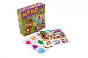 Настольная игра Рыжий кот МЕМО 30 фишек + пазлы 24 элемента Формы и фигуры МП-0371 3+