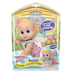 Кукла Bouncin Babies Баниэль ползущая 16 см 802002