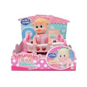 Кукла Bouncin Babies Бони с кроваткой 16 см 803002