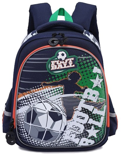 3c07605a1df7 ... пеналыРюкзак школьный Grizzly темно синий зеленый RA-978-1. 🔍. Ранцы  ...
